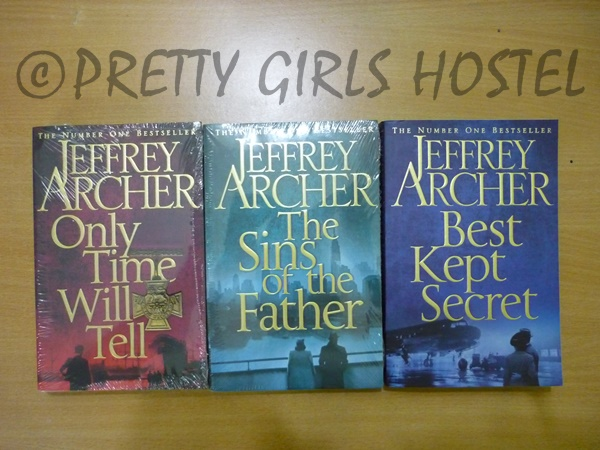 Jeffrey Archer Clifton Chronicles in Pretty Girls Hostel Library, Guwahati