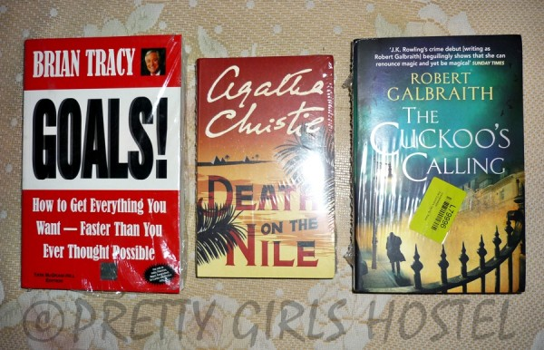 j-k-rowling-the-cuckoo-calling-agatha-christie-death-on-the-nile-brian-tracy-goals-guwahati-girls-hostel