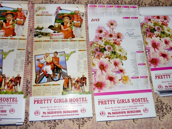 2015 calendars guwahati girls hostel bihu assam flowers