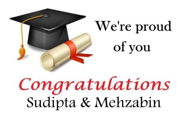 CongratsSudiptaMehzabinPGH